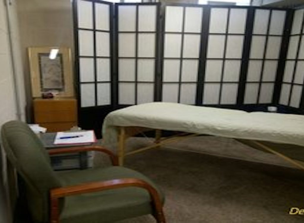 A treatment room where cupping therapy sessions occur.